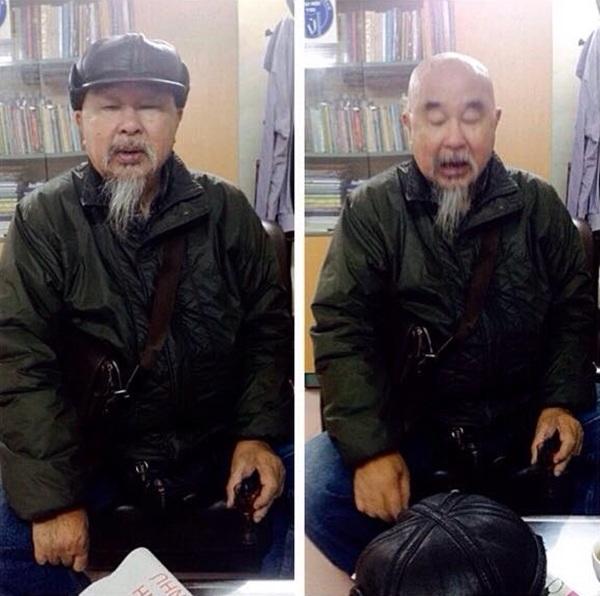 Cố nhà văn Bùi Bình Thi - hội viên Hội Nhà văn Việt Nam. (Ảnh chụp 25/12/2015 tại phòng làm việc của Chánh VP Hội Nhà văn Việt Nam).