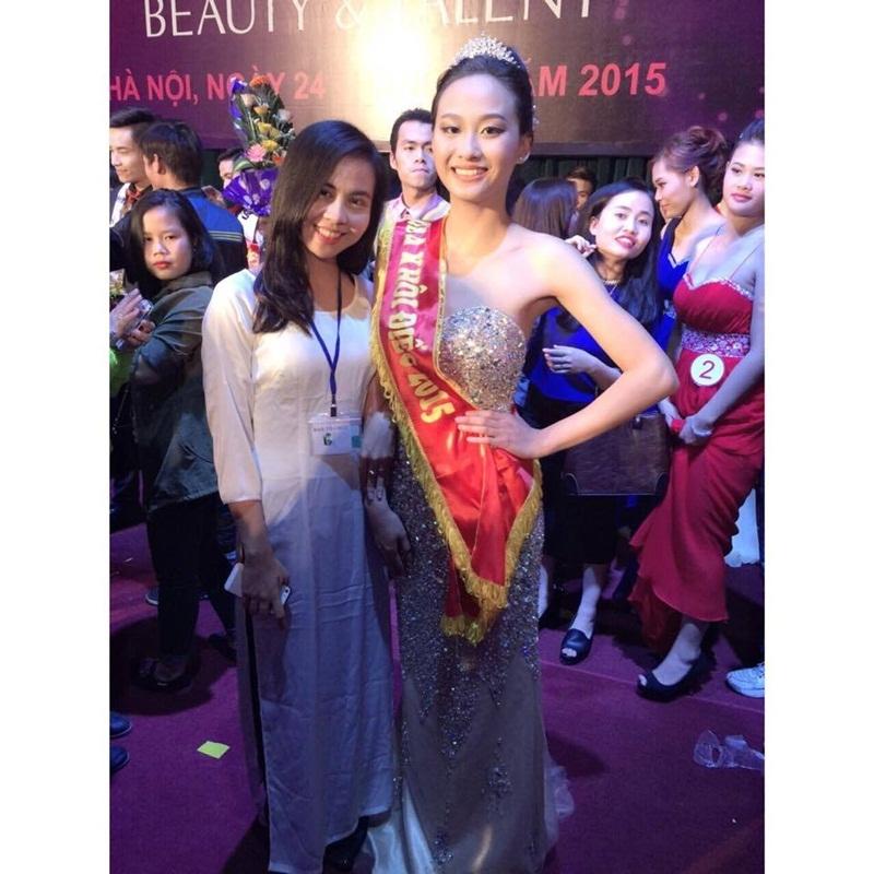 Lan Anh đăng quang Hoa khôi người Điếc Việt Nam 2015.