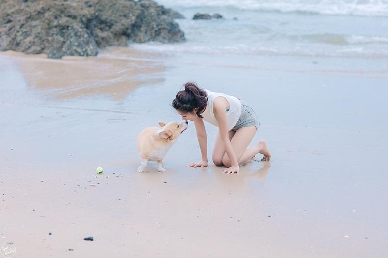"""""""Cô gái trà sữa"""" Việt đáng yêu trong bộ ảnh mới cùng thú cưng - 13"""