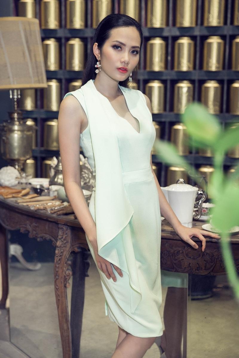 Hoa hậu Đông Nam Á Diệu Linh ngọt ngào với đầm hai dây - 11