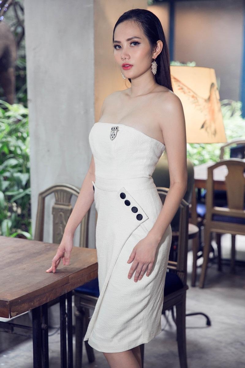 Hoa hậu Đông Nam Á Diệu Linh ngọt ngào với đầm hai dây - 8