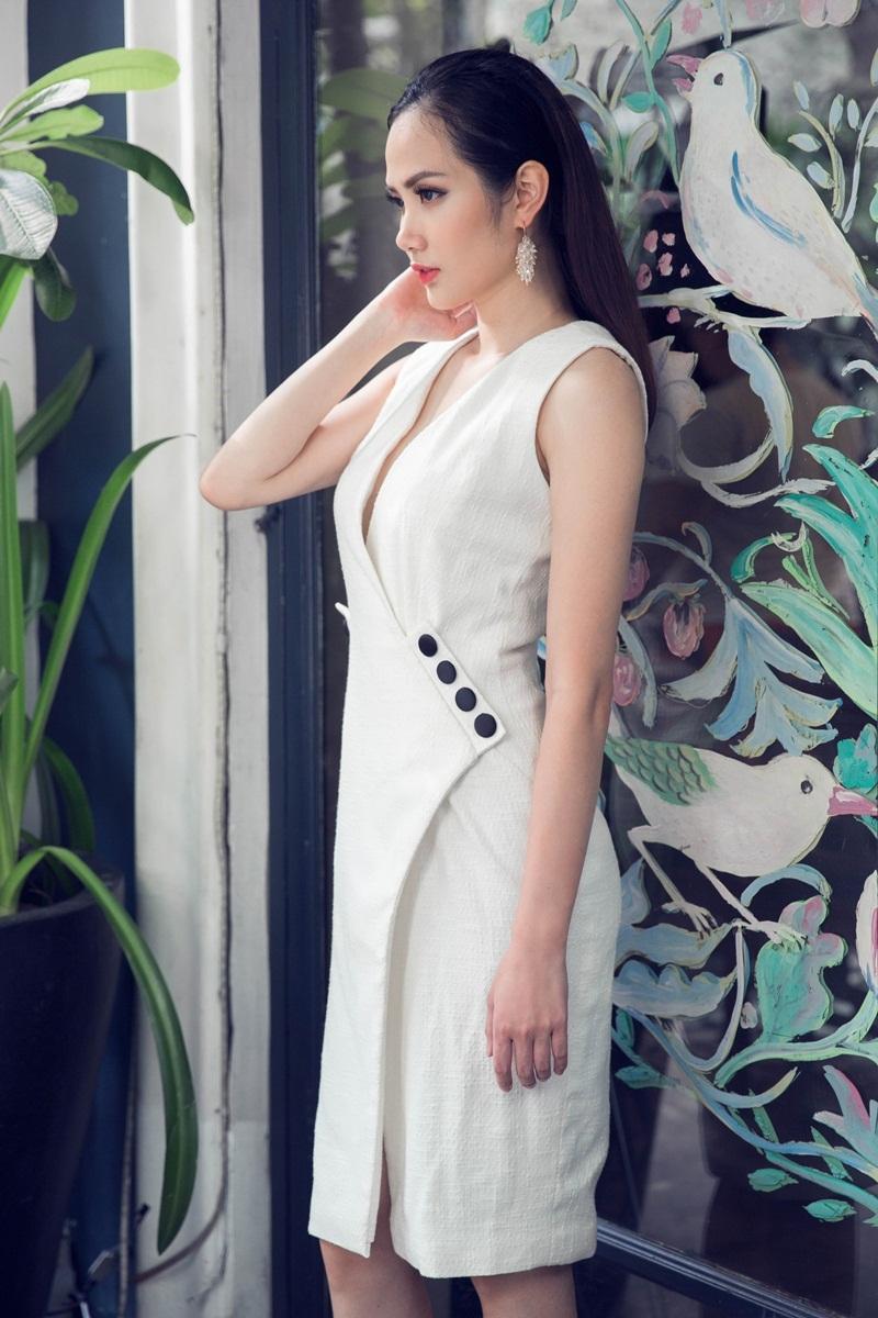 Hoa hậu Đông Nam Á Diệu Linh ngọt ngào với đầm hai dây - 10