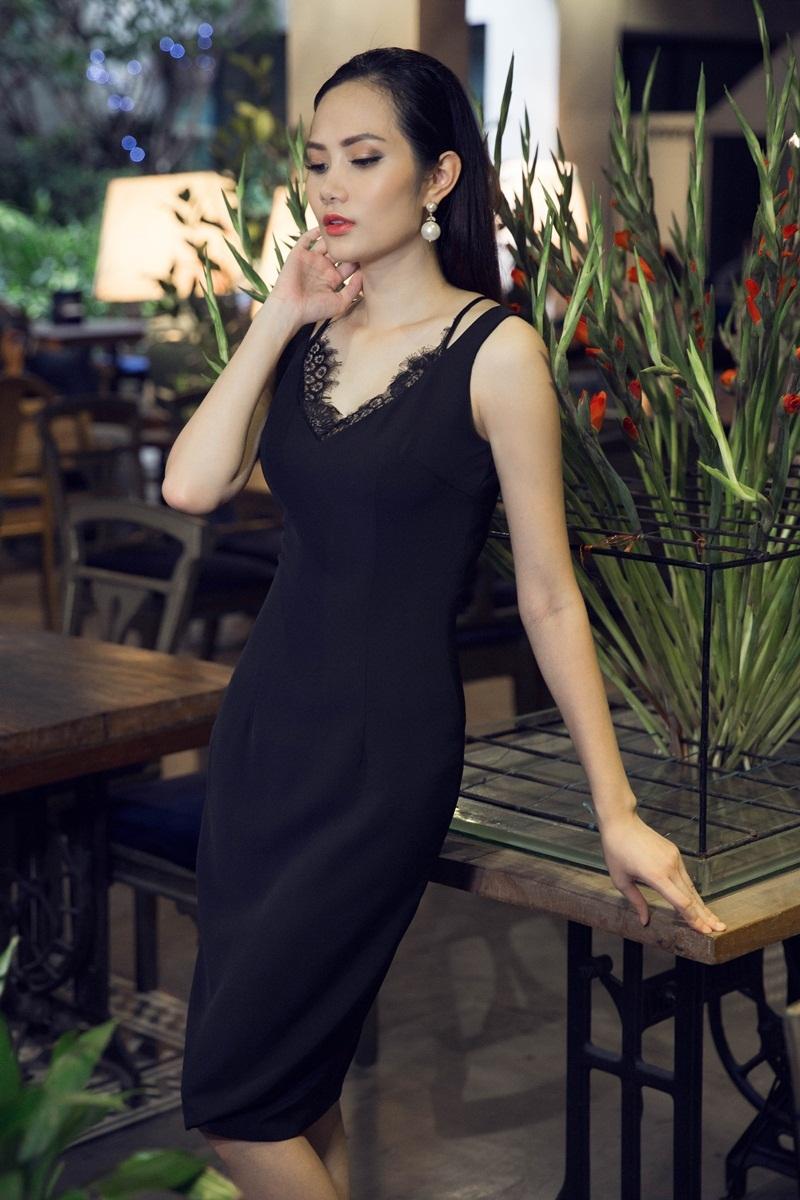 Hoa hậu Đông Nam Á Diệu Linh ngọt ngào với đầm hai dây - 5