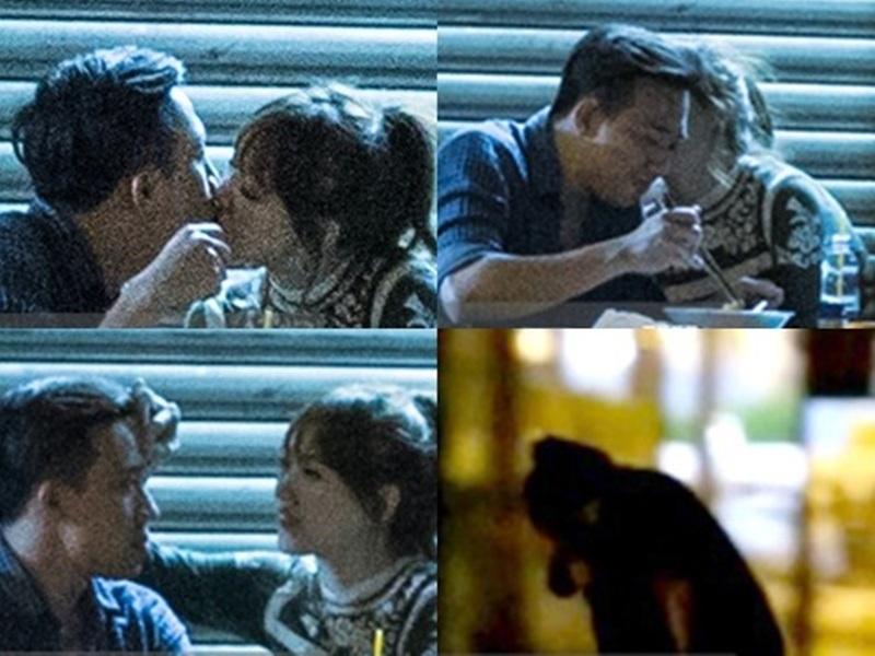 Khoảnh khắc khóa môi của Hari Won với bạn trai mới Trấn Thành.