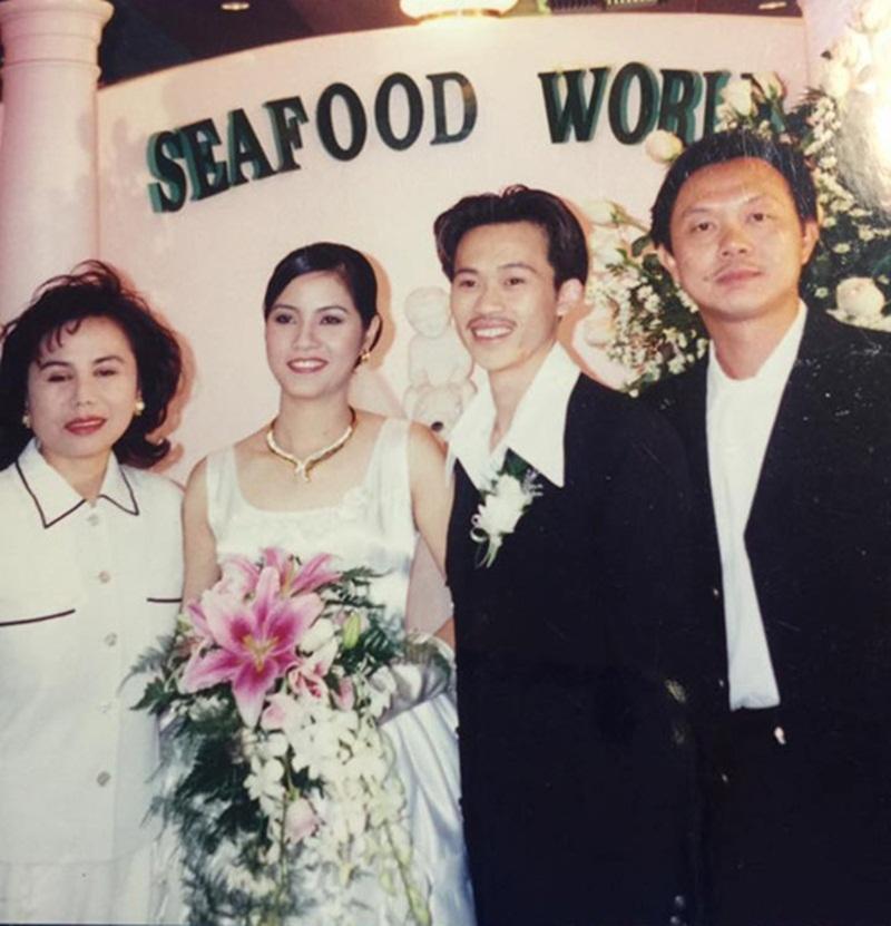 Đầu tháng 4 vừa qua, MC Kỳ Duyên đăng lại loạt ảnh các nghệ sĩ hải ngoại chụp hơn 10-20 năm trước, do một người bạn của họ đăng tải trên trang cá nhân. Trong loạt ảnh, người hâm mộ bất ngờ khi thấy có cả ảnh cưới của danh hài Hoài Linh.