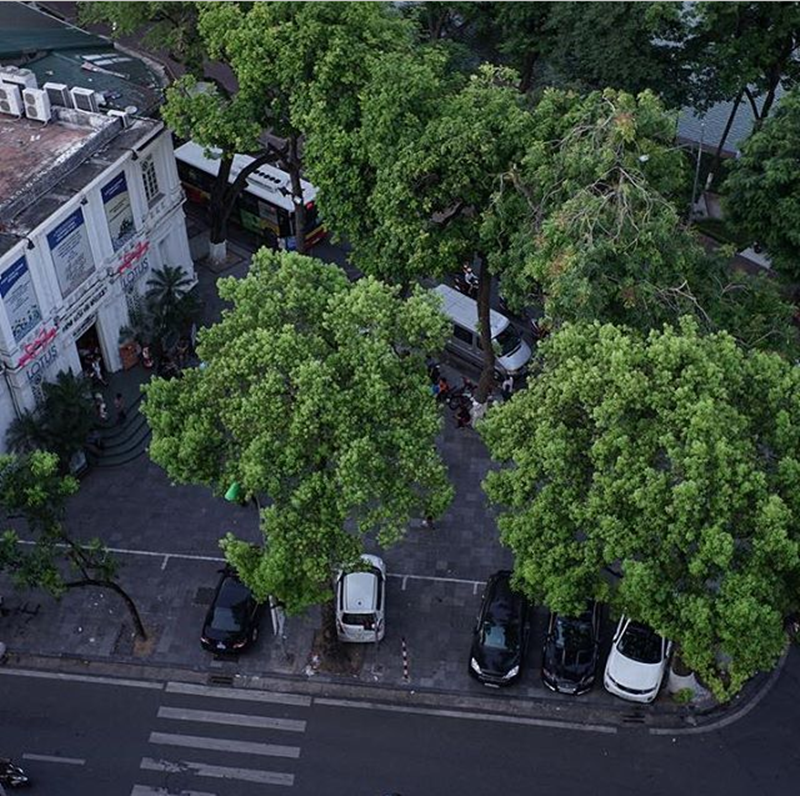 Hình ảnh phố phường Hà Nội từ trên cao nhìn xuống