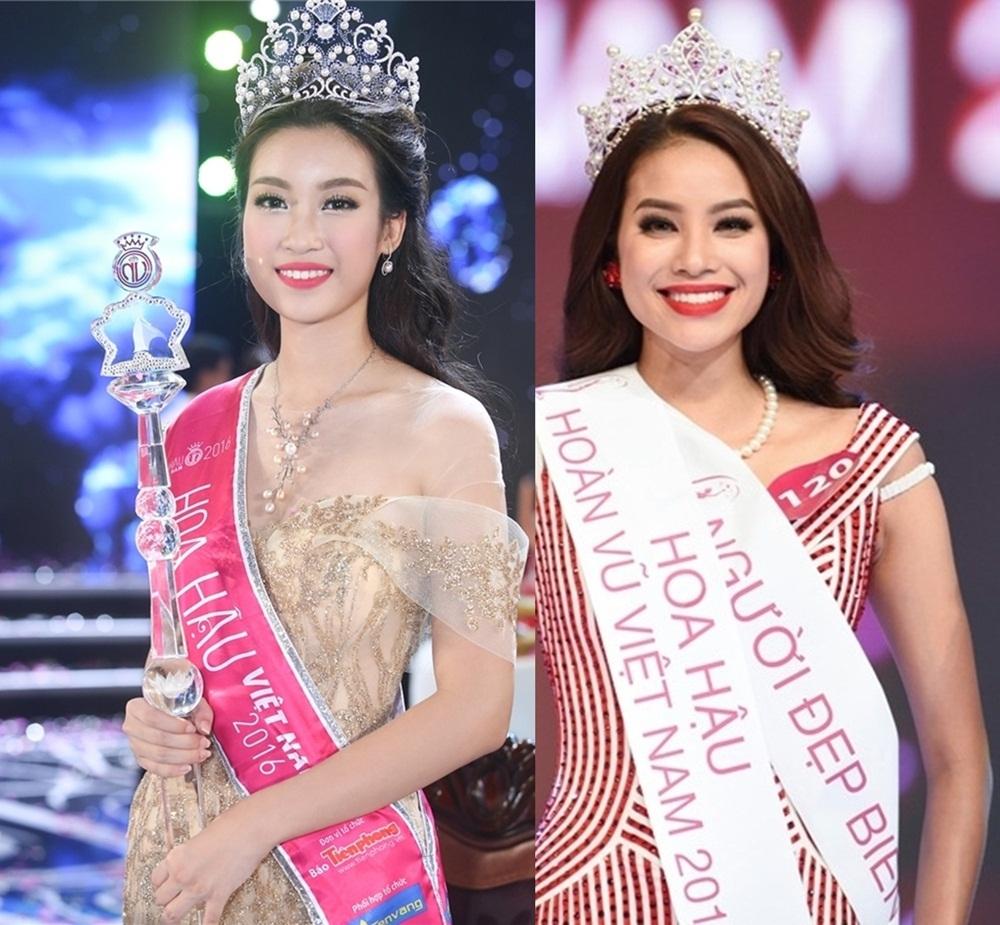 Mỹ Linh dừng chân ở top 15 Hoa hậu Hoàn Vũ 2015 rồi đăng quang Hoa hậu Việt Nam 2016. Trong khi đó, Phạm Hương vào top 10 HHVN 2014 nhưng rồi đăng quang HHHV 2015. Mỗi người đẹp cuối cùng đã chọn đúng cuộc thi gọi tên mình.