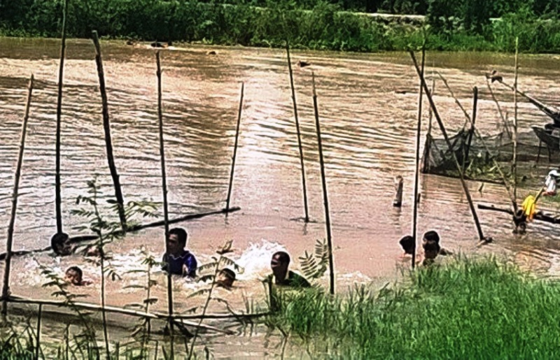 Dù tỉnh Đồng Tháp có kế hoạch thực hiện phổ cập bơi phòng chống nguy cơ đuối nước cho trẻ em nhưng đến nay số trẻ em đuối nước vẫn còn cao. Nhiều nơi còn dùng tre nứa dạy bơi cho trẻ như thế này