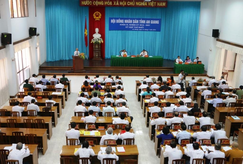Kỳ họp thứ nhất HĐND tỉnh An Giang khóa IX, nhiệm kỳ 2016 - 2021 bầu các chức danh chủ chốt HDND và UBND tỉnh