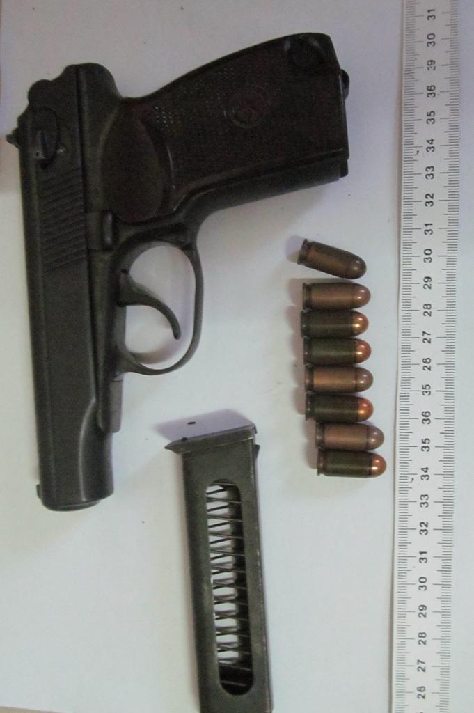 Một trong những khẩu súng của đối tượng Lai Bin Thi