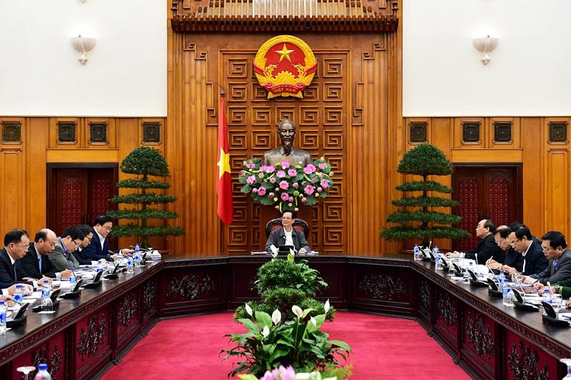 Thủ tướng chủ trì cuộc họp của Thường trực Chính phủ.