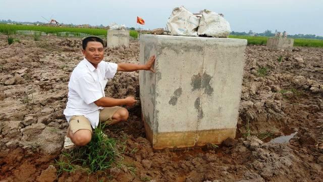 Vụ việc trụ cột điện bê tông trộn đất được phát hiện tại Nam Định ít ngày trước.