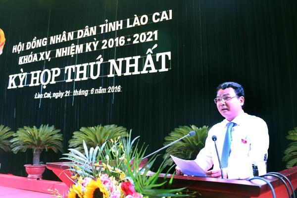 2 tuần trước, ông Đặng Xuân Phong được bầu làm Chủ tịch UBND tỉnh Lào Cai.