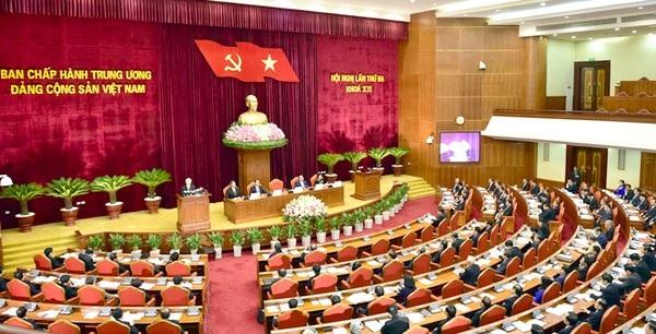 Quang cảnh Hội nghị lần thứ 3 Ban Chấp hành Trung ương Đảng khoá XII.