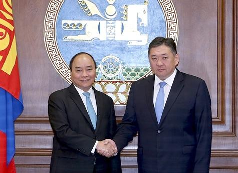 Thủ tướng hội kiến Chủ tịch Quốc hội Mông Cổ.
