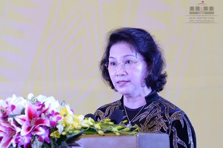 Chủ tịch Quốc hội Nguyễn Thị Kim Ngân khái quát cuộc bầu cử đã thành công tốt đẹp.