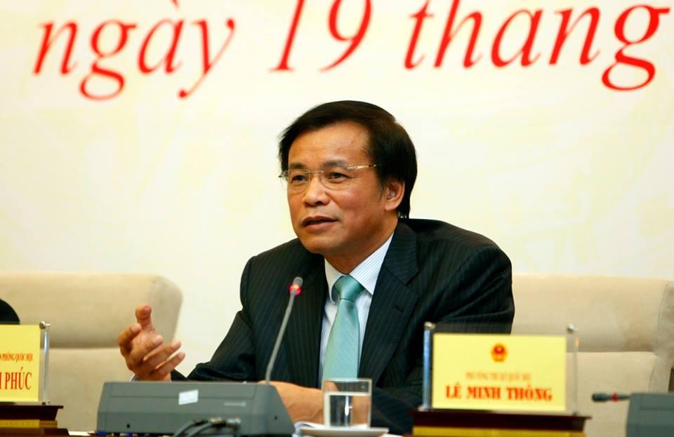 Tổng thư ký Quốc hội Nguyễn Hạnh Phúc chủ trì cuộc họp báo (ảnh: XH).