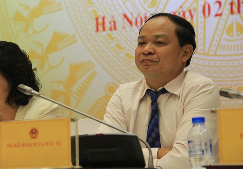 Thứ trưởng KH-ĐT Đào Quang Thu tại cuộc họp báo.