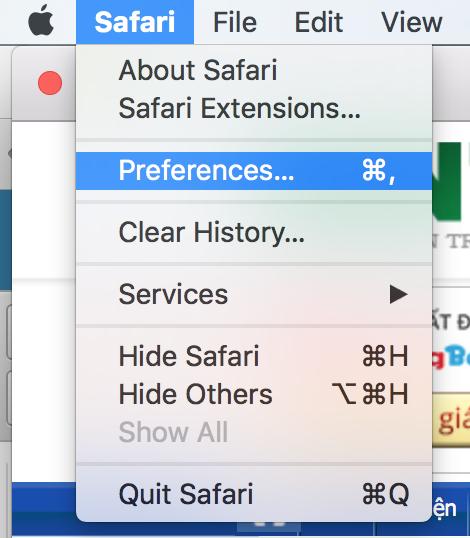 Hướng dẫn tăng tốc trình duyệt Safari trên máy tính Mac - 1