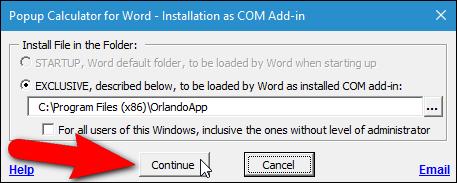Hướng dẫn thêm máy tính vào Microsoft Word - 5