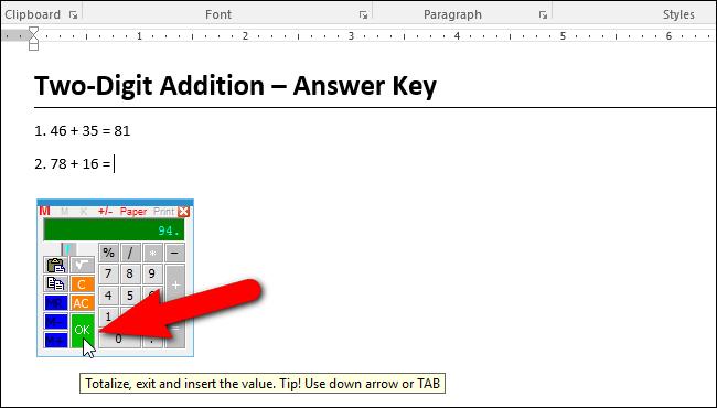 Hướng dẫn thêm máy tính vào Microsoft Word - 11