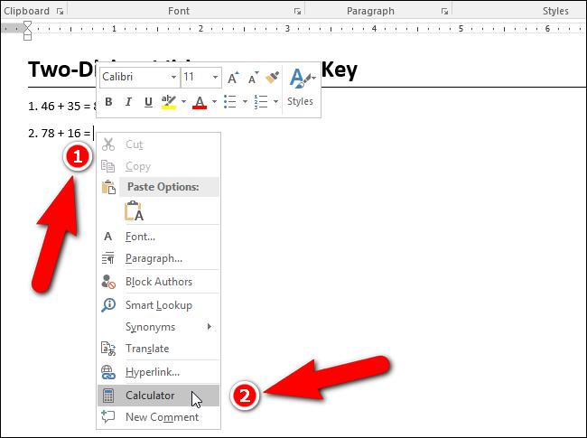 Hướng dẫn thêm máy tính vào Microsoft Word - 13