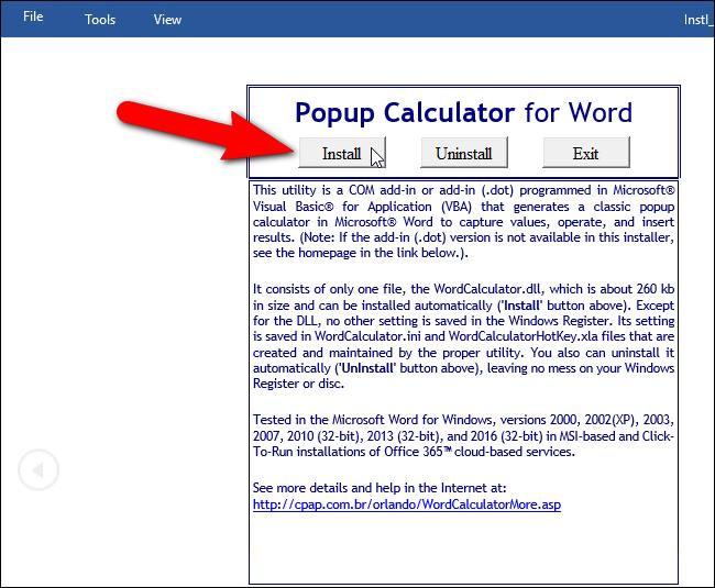 Hướng dẫn thêm máy tính vào Microsoft Word - 3