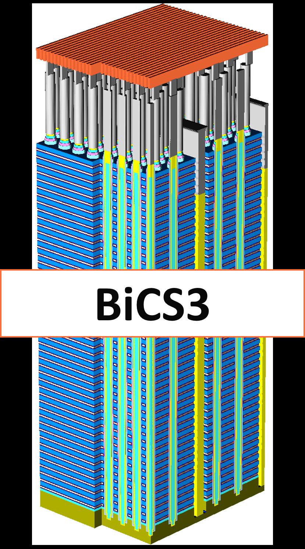 Với dung lượng 256 Gigabit, và công nghệ 3-bit-trên-một-mạch (3-bits-per-cell), BiCS3 hiện đang là loại chip nhỏ nhất thế giới