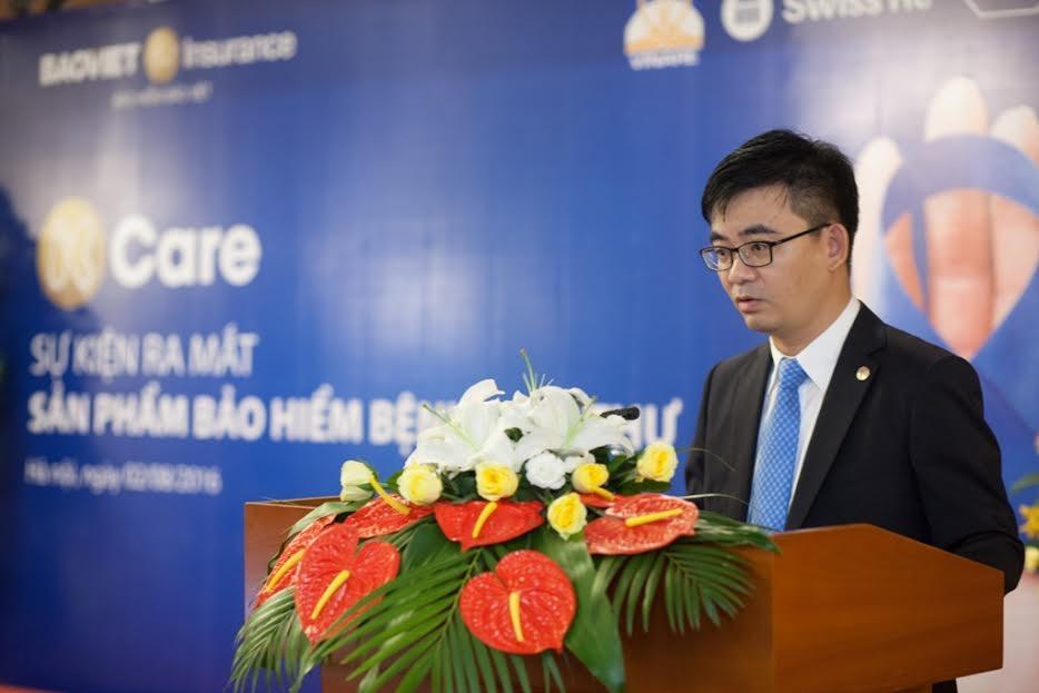 Ông Nguyễn Quang Hưng - Phó Tổng Giám đốc Bảo hiểm Bảo Việt phát biểu tại sự kiện ra mắt sản phẩm K-Care
