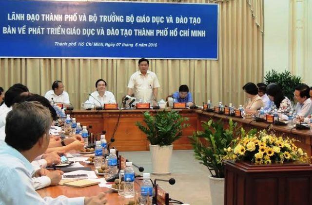 Bí thư Thành ủy TPHCM, ông Đinh La Thăng cho rằng giáo dục TPHCM phải phát huy được khí chất, sự hảo sảng của người Nam Bộ.