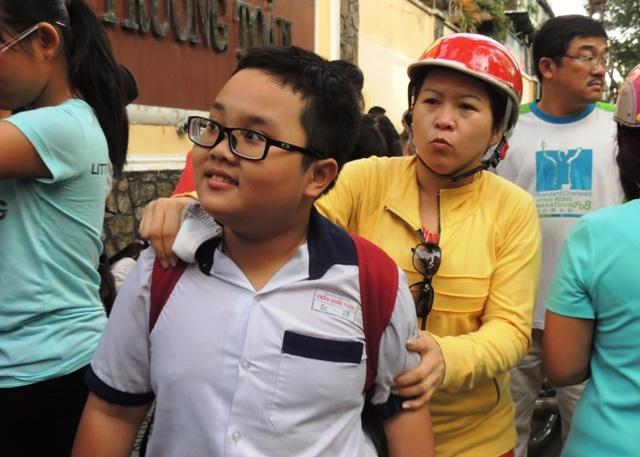 Học sinh tham gia kỳ khảo sát năng lực vào lớp 6 Trường THPT chuyên Trần Đại Nghĩa, TPHCM