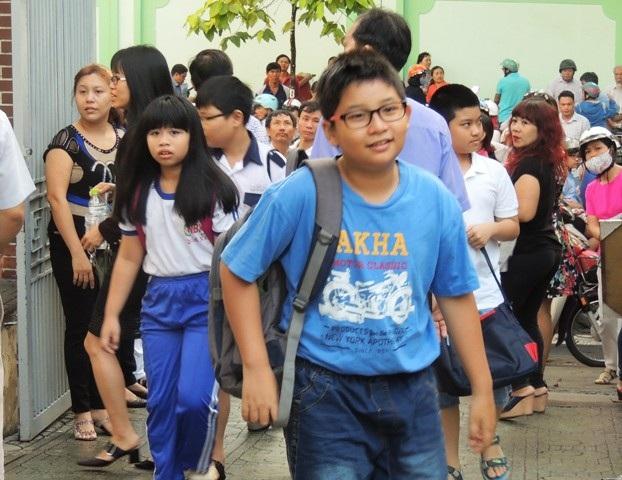 Học sinh trong kỳ tuyển sinh vào lớp 6 Trường THPT chuyên Trần Đại Nghĩa, TPHCM