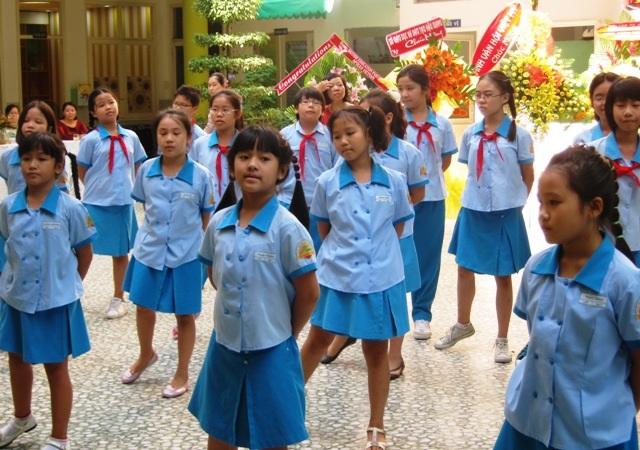 Trường tiểu học Lê Ngọc Hân, ngôi trường đắt giá ở TPHCM được nhiều phụ huynh canh cho con vào học.