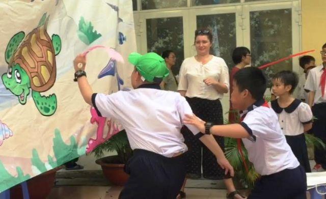 Khai giảng theo hướng đổi mới, nhiều trường chú trọng, xây dựng các hoạt động vui chơi, gắn kết cho học sinh