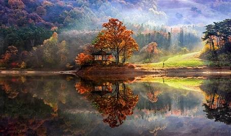 Nao lòng với cảnh thiên nhiên tuyệt đẹp như soi bóng nước gương hồ ở Hàn Quốc - 1