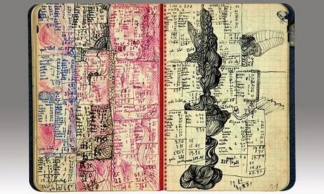 Ảnh chụp từ nhật ký đang được Sotheby Paris bán đấu giá của nghệ sĩ Salvador Dalí
