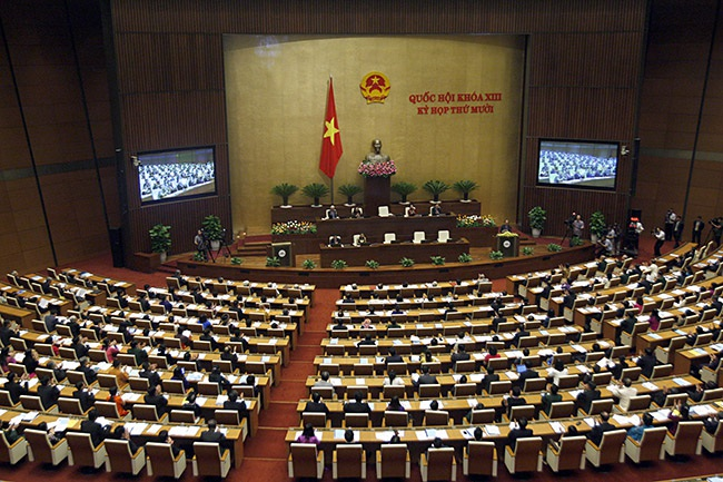 Toàn cảnh phiên khai mạc kỳ họp thứ 10 Quốc hội khóa XIII (ảnh: Việt Hưng)