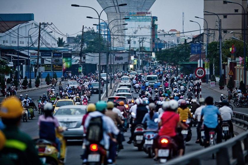 Thị trường nội địa của Việt Nam không bị ảnh hưởng bởi suy giảm thương mại trong khu vực và trên thế giới (ảnh: Bloomberg)