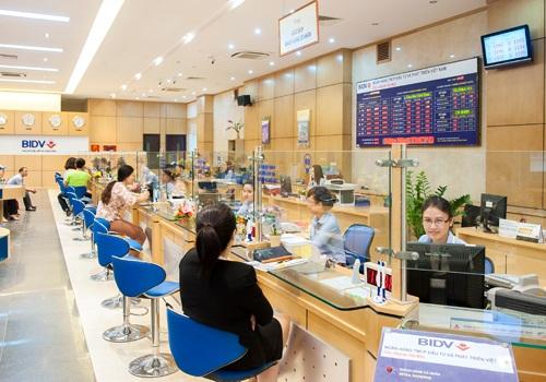 Một phòng giao dịch của BIDV