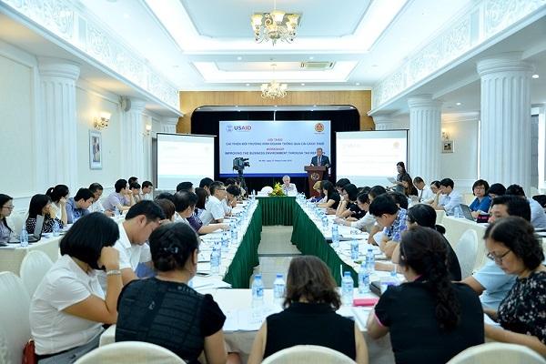 Toàn cảnh hội thảo Cải thiện môi trường kinh doanh thông qua cải cách thuế