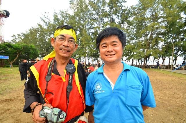 Võ sư Phan Văn Trung và anh Vũ Đức Tiến.