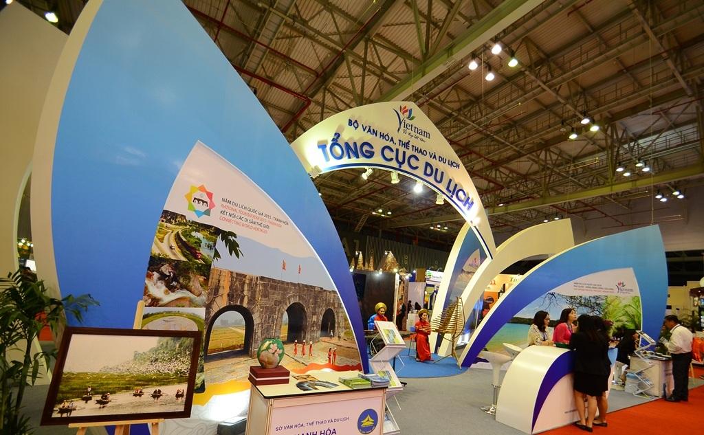 Gian hàng của Tổng cục Du lịch Việt Nam tại ITE HCMC 2015.