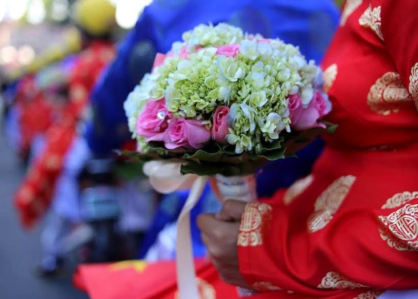 Dù là đám cưới tập thể, nhưng những nghi thức quan trọng của một lễ cưới được ban tổ chức chuẩn bị cho 100 cặp đôi.