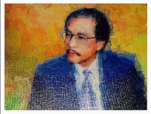 Ký hoạ nhạc sỹ Ngô Thuỵ Miên. Ảnh: NVCC.