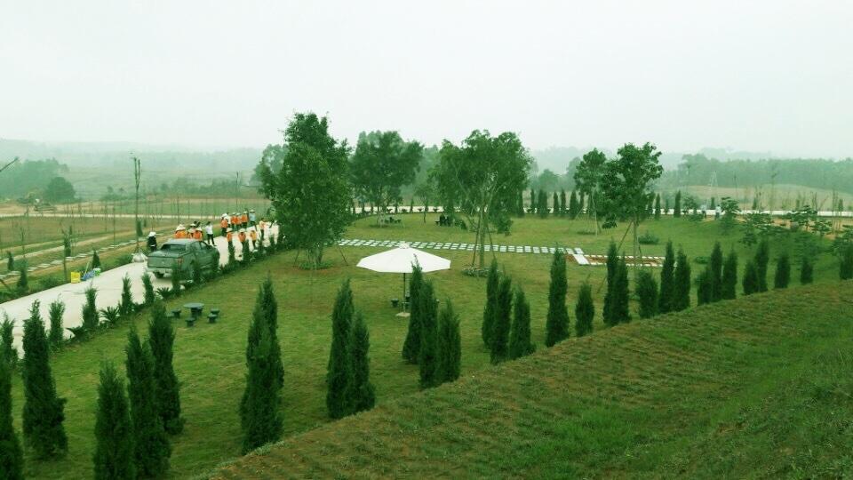 Vị trí nhạc sĩ Một mình yên nghỉ là khu cao nhất trong công viên nghĩa trang này. Thế đất toạ lạc ở đỉnh đồi Đại An.