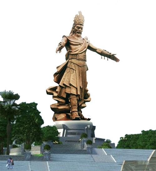 Một trong những mẫu tượng Hùng Vương được trưng bày trong dịp Giỗ Tổ ( Ảnh: PT)