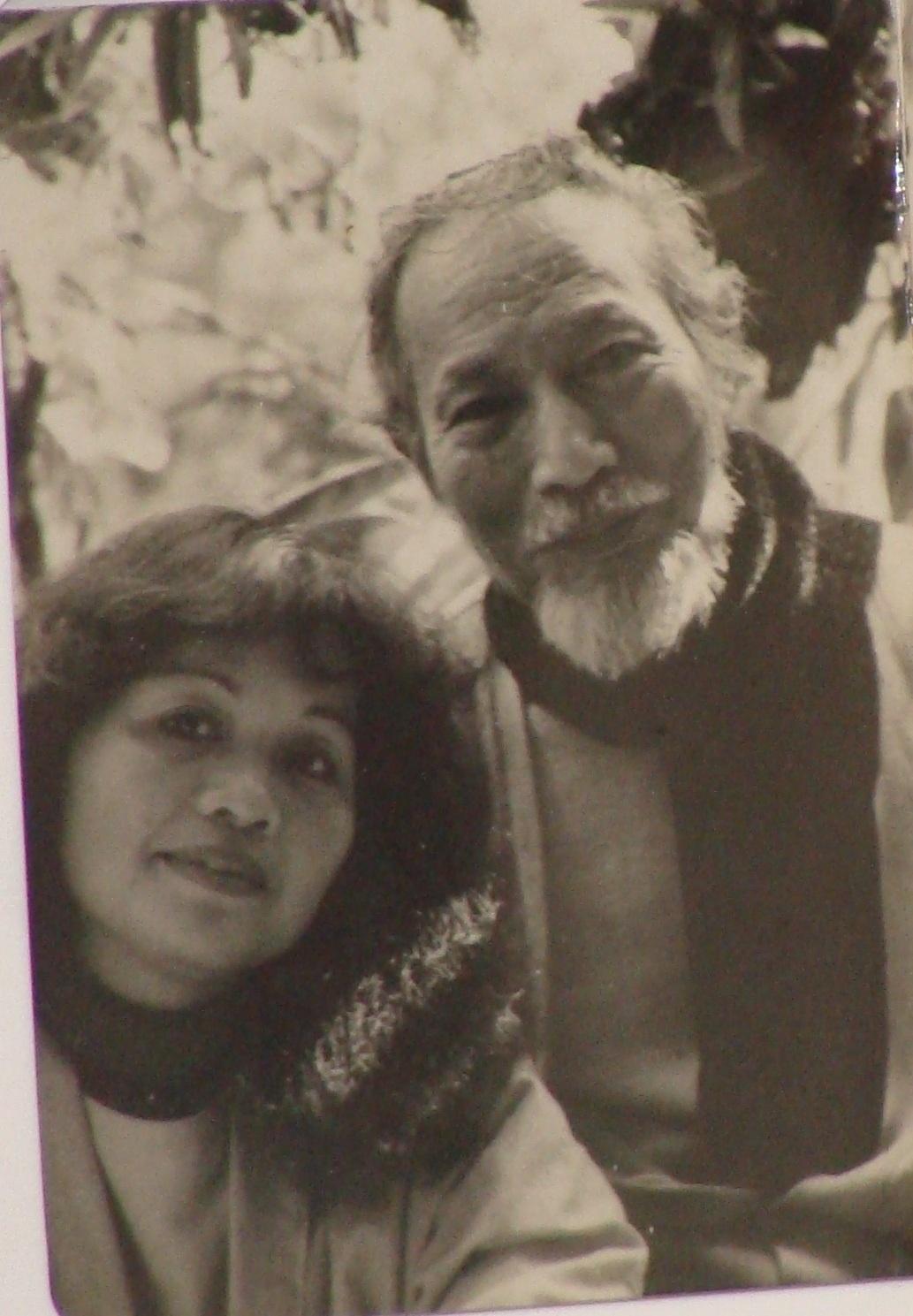 Danh họa Trần Văn Cẩn và bà Trần Thị Hồng những ngày tháng hạnh phúc. Ảnh: HTL.