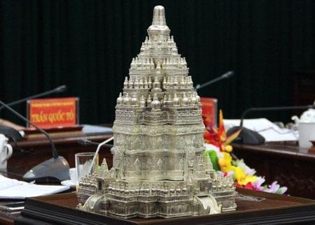 Mô hình chùa Tháp dự kiến sẽ xây dựng tại Thái Nguyên. Ảnh: thainguyen.gov.vn