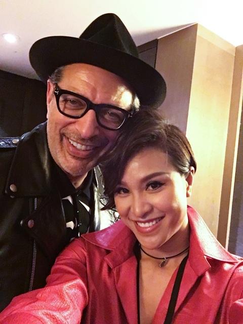 Phương Mai cùng diễn viên Jeff Goldblum.