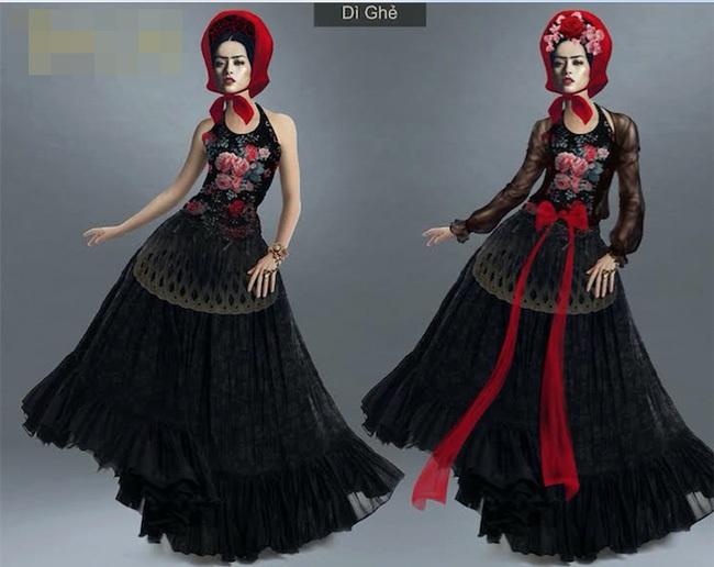 Trang phục của nhân vật Dì ghẻ.
